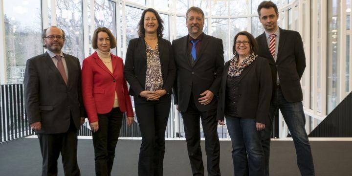 Der aktuelle geschäftsführende Vorstand des BJV: Markus Hack,  Jutta Müller, Andrea Roth, Michael Busch, Daniela Albrecht und Ralph Bauer