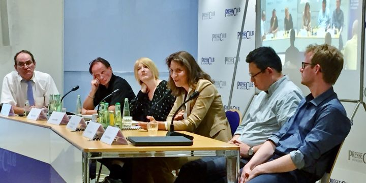 Diskussionsrunde im Münchner Presseclub zum Thema Deep Fakes