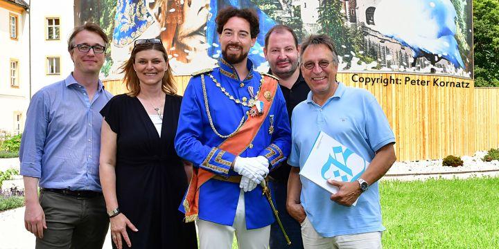 Der Vorstand bei der Bayerischen Landesausstellung 2018 in Ettal (von links): Sascha Ihns, Caroline Hannig-Sachon, Michael Helmerich und Volker Figura